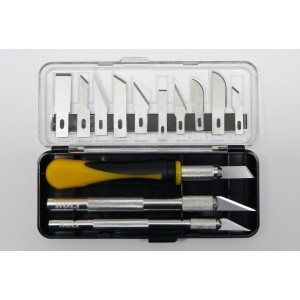 HO270BOX - SET OF 3 DIFFERENT HANDLES AND 10 BLADES (5 PCS IN BULK PACKAGING)