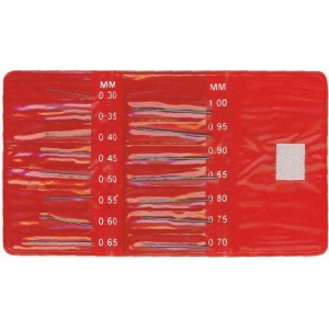 HO101 - HSS DRILL SET (15 PCS) SIZE FROM 0,30 MM TO 1,00 MM