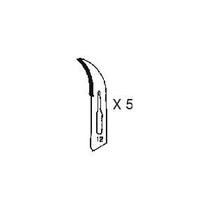 HO312 - SURGICAL BLADE NR 12 (5 PCS)